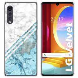 Funda Gel Tpu para LG Velvet 5G diseño Mármol 02 Dibujos