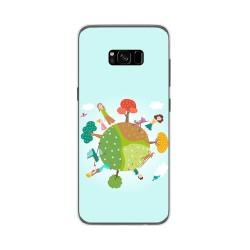 Funda Gel Tpu para Samsung Galaxy S8 Plus Diseño Familia Dibujos