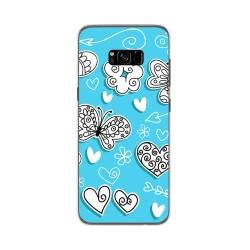 Funda Gel Tpu para Samsung Galaxy S8 Plus Diseño Mariposas Dibujos