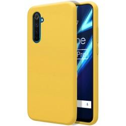Funda Silicona Líquida Ultra Suave para Realme 6 Pro color Amarilla