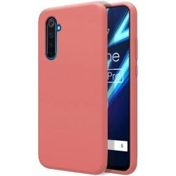 Funda Silicona Líquida Ultra Suave para Realme 6 Pro color Rosa