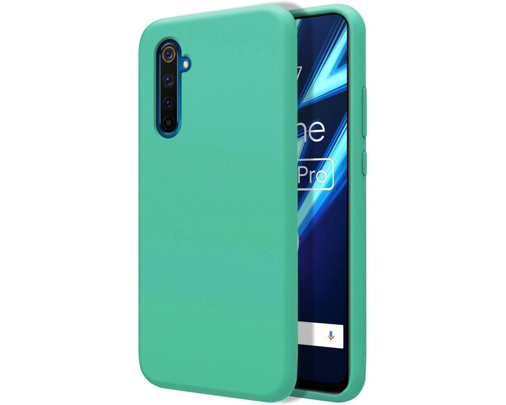 Funda Silicona Líquida Ultra Suave para Realme 6 Pro color Verde