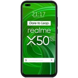 Funda Silicona Líquida Ultra Suave para Realme X50 Pro 5G color Negra