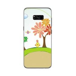Funda Gel Tpu para Samsung Galaxy S8 Plus Diseño Primavera Dibujos