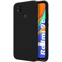 Funda Silicona Líquida Ultra Suave para Xiaomi Redmi 9C color Negra