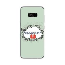 Funda Gel Tpu para Samsung Galaxy S8 Plus Diseño Nube Dibujos