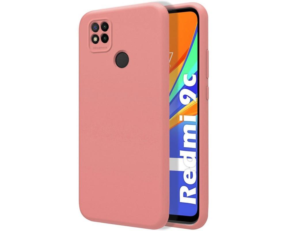 Funda Silicona Líquida Ultra Suave para Xiaomi Redmi 9C color Rosa