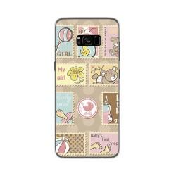 Funda Gel Tpu para Samsung Galaxy S8 Plus Diseño Sellos Dibujos