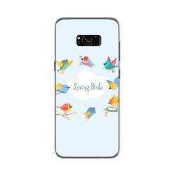 Funda Gel Tpu para Samsung Galaxy S8 Plus Diseño Spring Birds Dibujos