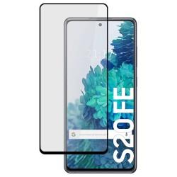 Protector Cristal Templado Completo 5D Full Glue Negro para Samsung Galaxy S20 FE vidrio