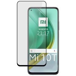 Protector Cristal Templado Completo 5D Full Glue Negro para Xiaomi Mi 10T / MI 10T Pro Vidrio
