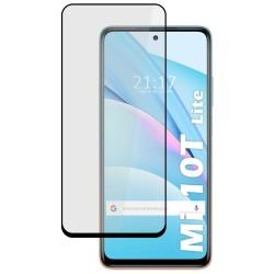 Protector Cristal Templado Completo 5D Full Glue Negro para Xiaomi Mi 10T Lite vidrio