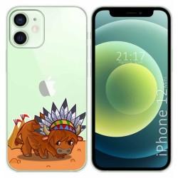 Funda Gel Transparente para Iphone 12 Mini (5.4) diseño Bufalo Dibujos