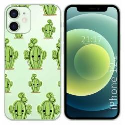 Funda Gel Transparente para Iphone 12 Mini (5.4) diseño Cactus Dibujos