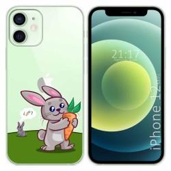 Funda Gel Transparente para Iphone 12 Mini (5.4) diseño Conejo Dibujos
