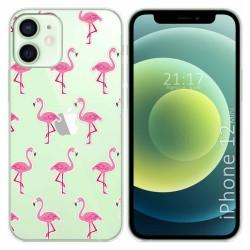 Funda Gel Transparente para Iphone 12 Mini (5.4) diseño Flamenco Dibujos
