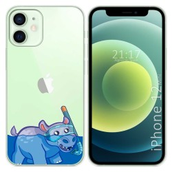 Funda Gel Transparente para Iphone 12 Mini (5.4) diseño Hipo Dibujos