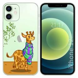 Funda Gel Transparente para Iphone 12 Mini (5.4) diseño Jirafa Dibujos