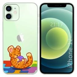 Funda Gel Transparente para Iphone 12 Mini (5.4) diseño Leopardo Dibujos