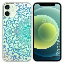 Funda Gel Transparente para Iphone 12 Mini (5.4) diseño Mandala Dibujos