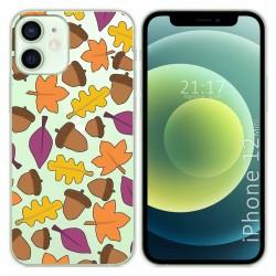Funda Gel Transparente para Iphone 12 Mini (5.4) diseño Otoño Dibujos