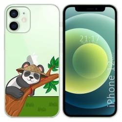 Funda Gel Transparente para Iphone 12 Mini (5.4) diseño Panda Dibujos