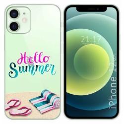 Funda Gel Transparente para Iphone 12 Mini (5.4) diseño Summer Dibujos
