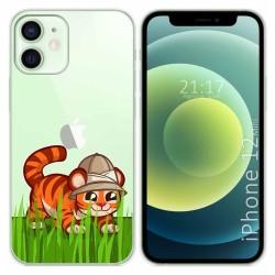 Funda Gel Transparente para Iphone 12 Mini (5.4) diseño Tigre Dibujos
