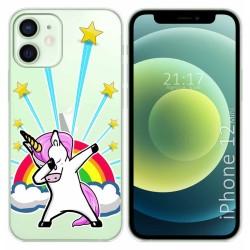 Funda Gel Transparente para Iphone 12 Mini (5.4) diseño Unicornio Dibujos