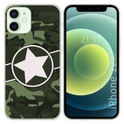 Funda Gel Tpu para Iphone 12 Mini (5.4) diseño Camuflaje 01 Dibujos