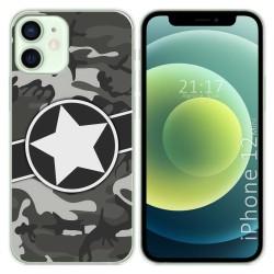 Funda Gel Tpu para Iphone 12 Mini (5.4) diseño Camuflaje 02 Dibujos