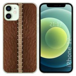Funda Gel Tpu para Iphone 12 Mini (5.4) diseño Cuero 01 Dibujos