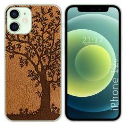 Funda Gel Tpu para Iphone 12 Mini (5.4) diseño Cuero 03 Dibujos