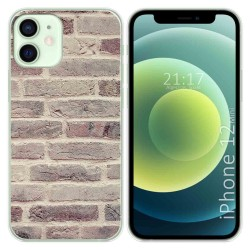 Funda Gel Tpu para Iphone 12 Mini (5.4) diseño Ladrillo 01 Dibujos