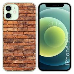 Funda Gel Tpu para Iphone 12 Mini (5.4) diseño Ladrillo 04 Dibujos