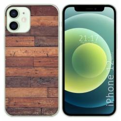 Funda Gel Tpu para Iphone 12 Mini (5.4) diseño Madera 03 Dibujos