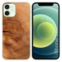 Funda Gel Tpu para Iphone 12 Mini (5.4) diseño Madera 04 Dibujos