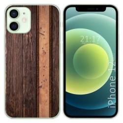 Funda Gel Tpu para Iphone 12 Mini (5.4) diseño Madera 05 Dibujos
