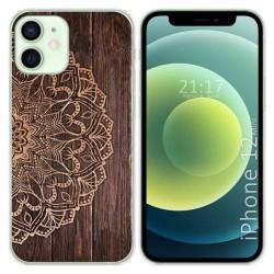 Funda Gel Tpu para Iphone 12 Mini (5.4) diseño Madera 06 Dibujos