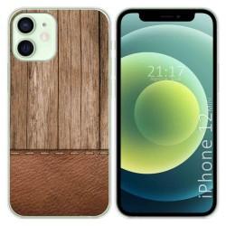 Funda Gel Tpu para Iphone 12 Mini (5.4) diseño Madera 09 Dibujos