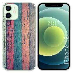 Funda Gel Tpu para Iphone 12 Mini (5.4) diseño Madera 10 Dibujos