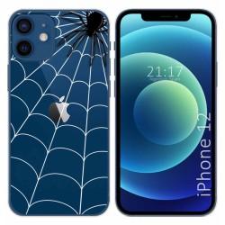 Funda Gel Transparente para Iphone 12 / 12 Pro (6.1) diseño Araña Dibujos