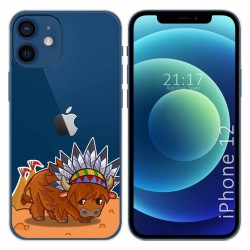 Funda Gel Transparente para Iphone 12 / 12 Pro (6.1) diseño Bufalo Dibujos