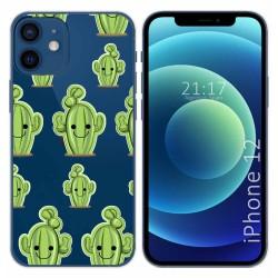 Funda Gel Transparente para Iphone 12 / 12 Pro (6.1) diseño Cactus Dibujos