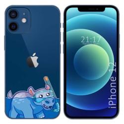Funda Gel Transparente para Iphone 12 / 12 Pro (6.1) diseño Hipo Dibujos
