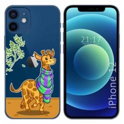 Funda Gel Transparente para Iphone 12 / 12 Pro (6.1) diseño Jirafa Dibujos