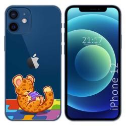 Funda Gel Transparente para Iphone 12 / 12 Pro (6.1) diseño Leopardo Dibujos