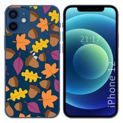 Funda Gel Transparente para Iphone 12 / 12 Pro (6.1) diseño Otoño Dibujos