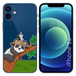 Funda Gel Transparente para Iphone 12 / 12 Pro (6.1) diseño Panda Dibujos