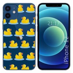 Funda Gel Transparente para Iphone 12 / 12 Pro (6.1) diseño Pato Dibujos